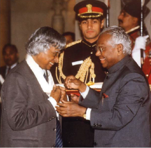 Receiving Bharat Ratna - Abdul Kalam