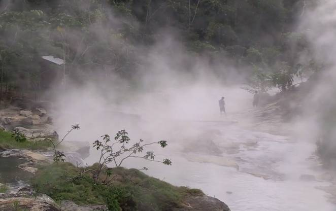 Boiling river