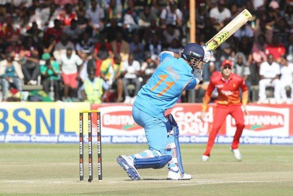 Indian batsman Lokesh Rahul plays a shot during the One Day International cricket match against Zimbabwe at Harare Sports Club, Saturday, June, 11, 2016. The Indian cricket team is in Zimbabwe for One Day International and T20 matches. (AP Photo/Tsvangirayi Mukwazhi)