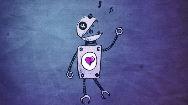 blue-paper-robot-wallpaper